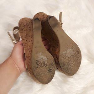 Shoes - Nude Wedge Heels